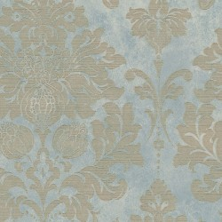 MD29418 In Register Damask Wallpaper