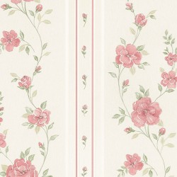 MD29443 In Register Rose Stripe Wallpaper