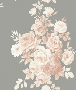 Tea Rose Blush/Grey Magnolia Home Vol. II Wallpaper