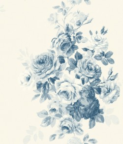 Tea Rose Blue Magnolia Home Vol. II Wallpaper