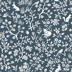 Fox & Hare Navy Magnolia Home Vol. II Wallpaper