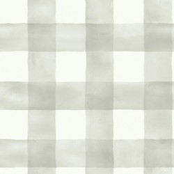 MH1518 Grey White Joanna Gaines Watercolor Buffalo Check York Wallpaper