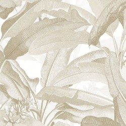 MH36536 Polynesian Leaves Wallpaper