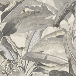MH36538 Polynesian Leaves Wallpaper