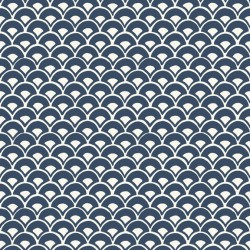 MK1156 Stacked Scallops Blue Wallpaper