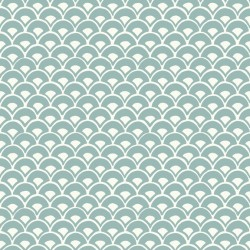 MK1157 Stacked Scallops Blue Wallpaper
