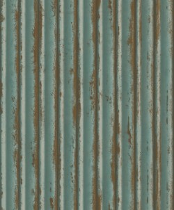 MM1720 Weathered Metal Teal/Gold Wallpaper