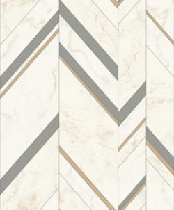 MM1803 Marble Chevron Grey/Gold Wallpaper