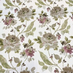 REMNANT Monet Lilac Watercolor Peony Floral Fabric - 55 inches x 3.75 yards
