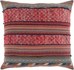 Marrakech Pillow with Down Fill in Ivory, Gold, Rust, Cherry, Hot Pink, Navy | MR001-3030D