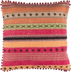 Marrakech Pillow with Down Fill in Burnt Orange, Forest, Mauve, Chocolate, Cherry, Black | MR003-3030D