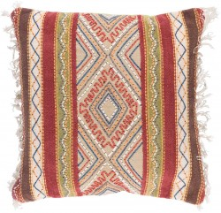 Marrakech Pillow with Down Fill in Peach, Olive, Gold, Olive, Chocolate, Burgundy | MR004-3030D