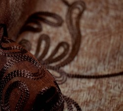 Nicolette Chocolate Softline Fabric