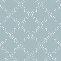 NU1826 Slate Blue Quatrefoil Peel And Stick Wallpaper