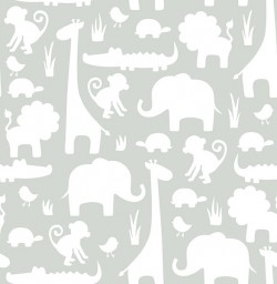 NU1393 Grey Its A Jungle In Here Peel and Stick Wallpaper