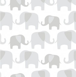 NU1405 Grey Elephant Parade Peel and Stick Wallpaper