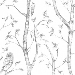 NU1412 Grey Woods Peel And Stick Wallpaper