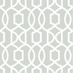 NU1421 Grey Grand Trellis Peel and Stick Wallpaper