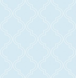 NU1424 Blue Quatrefoil Peel And Stick Wallpaper