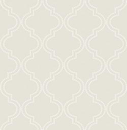 NU1425 Taupe Quatrefoil Peel and Stick Wallpaper