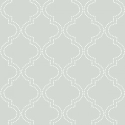 NU1649 Grey Quatrefoil Peel And Stick Wallpaper