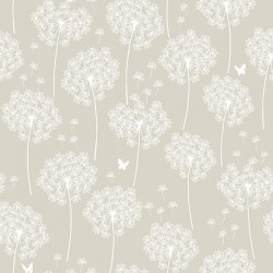 NU1651 Dandelion Taupe Peel And Stick Wallpaper