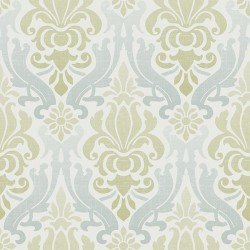 NU1656 Blue and Green Nouveau Damask Peel and Stick Wallpaper
