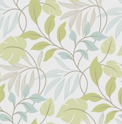 NU1657 Blue and Green Meadow Peel and Stick Wallpaper