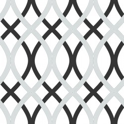 NU1658 Black and Silver Lattice Peel and Stick Wallpaper