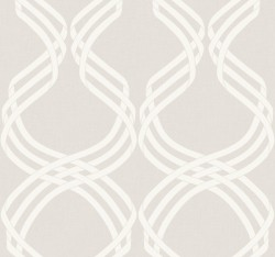 NV5564 Dante Ribbon Beige/White Wallpaper