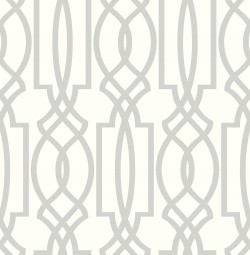 NW31508 Soft Gray Deco Lattice NextWall Peel & Stick Wallpaper