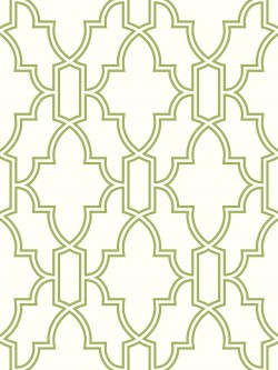 NW31604 Green and White Tile Trellis NextWall Peel & Stick Wallpaper