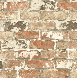 NW32301 Weathered Red Brick NextWall Peel & Stick Wallpaper