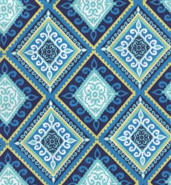 OD Spanish Tile Blue Green Tempo Fabric