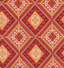 OD Spanish Tile Coral Tempo Fabric