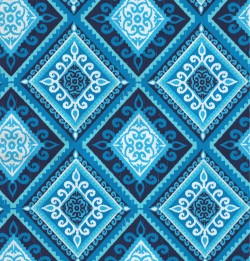OD Spanish Tile Indigo Tempo Fabric