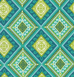 OD Spanish Tile Peacock Tempo Fabric