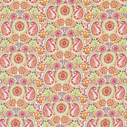 Paisley Pop Sorbet Kasmir Fabric