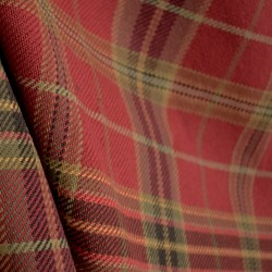 Roth D2892 Parkhill Cardinal Red Khaki Green Beige Plaid Cotton Fabric