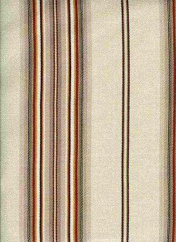 Bella Stripe Antique Ivory Laura Kiran Fabric