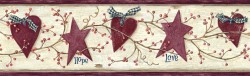 Dorothy Rose Star Heart Sprig Border