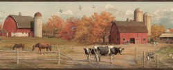 Jethro Black American Farmer Portrait Border