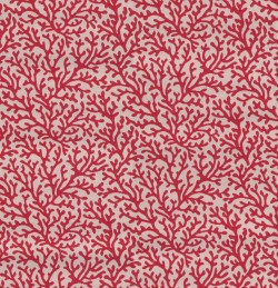 Reef Red Tempo Fabric
