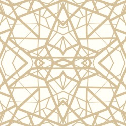 RMK10687WP Shatter Geometric White/Gold Peel & Stick Wallpaper