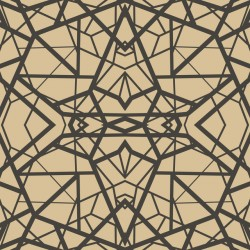 RMK10688WP Shatter Geometric Gold/Black Peel & Stick Wallpaper