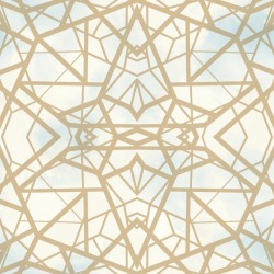 RMK10689WP Shatter Geometric Gold Peel & Stick Wallpaper