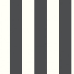 RMK11082WP Awning Stripe Black Peel & Stick Wallpaper