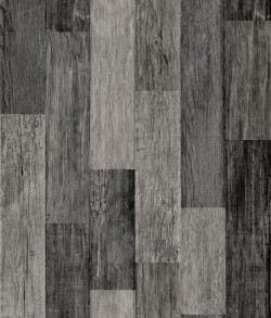 RMK11210WP Weathered Wood Plank Black Peel & Stick Wallpaper