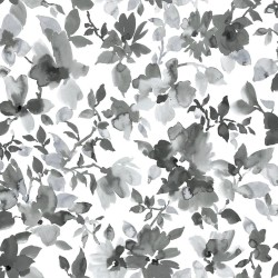 RMK11236WP Black Watercolor Floral Peel & Stick Wallpaper