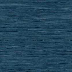 RMK11314WP Blue Faux Grasscloth Peel & Stick Wallpaper